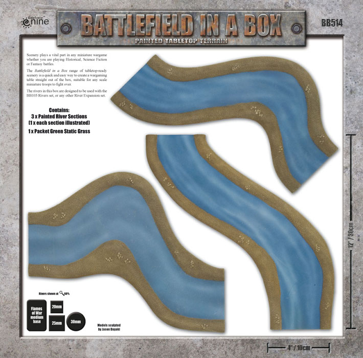 Battlefield in a Box - River Expansion: Bends Box Back (BB512)