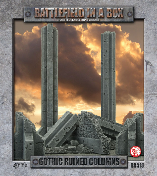Battlefield in a Box – Gothic Ruined Columns (BB518)  Box Front